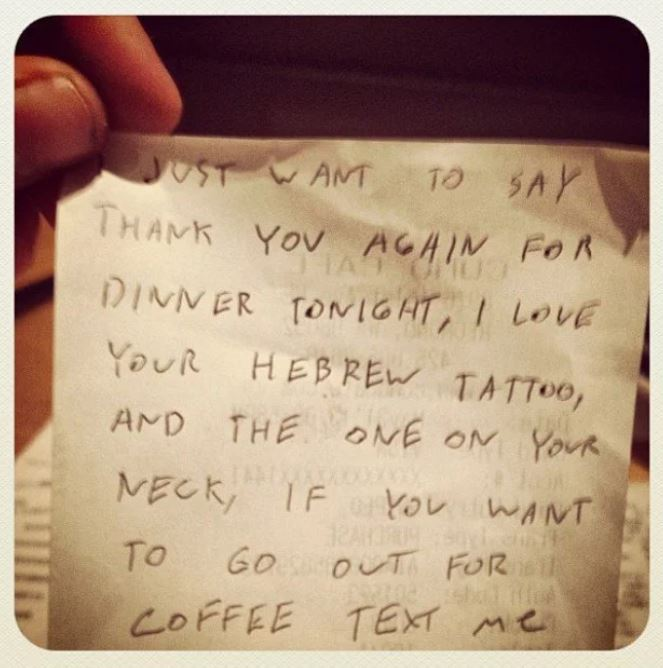 asking a waitress out