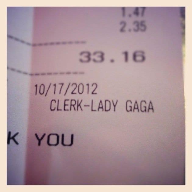 Lady Gaga clerk