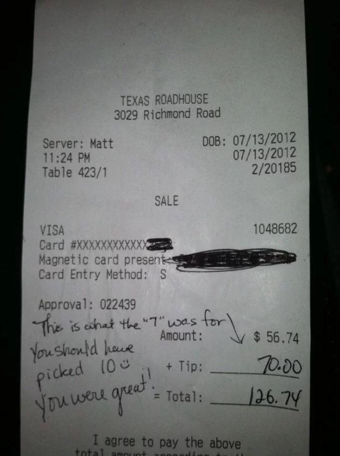 tip bigger than bill