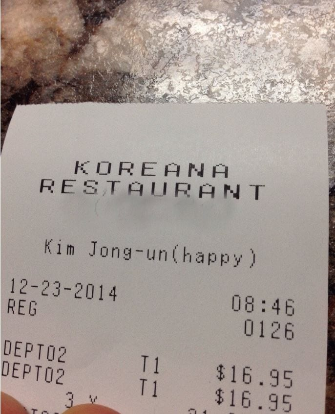 unhappy notes on dinner receipts