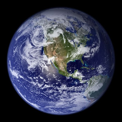 view of earth from satellite