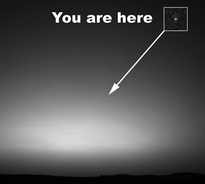 view of earth from mars