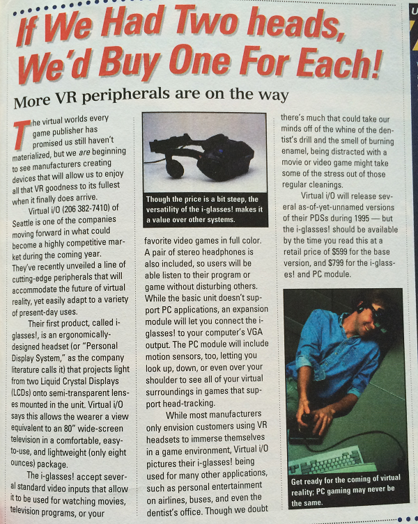 Virtual Reality in 1995