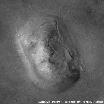The Face on Mars - in high resolution