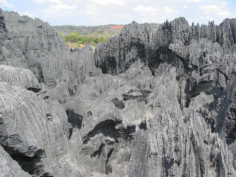tsingy de bemaraha karst landscape