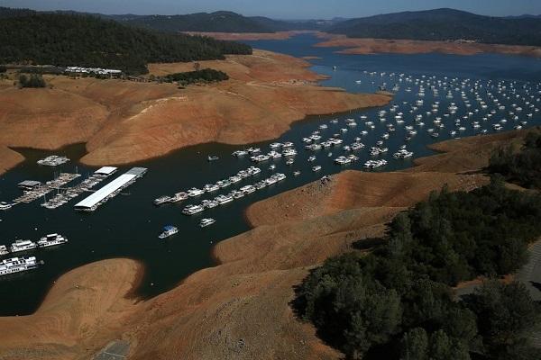 bidwell marina lake oroville california after drought