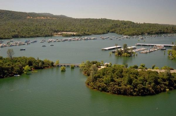 bidwell marina lake oroville california before drought 2