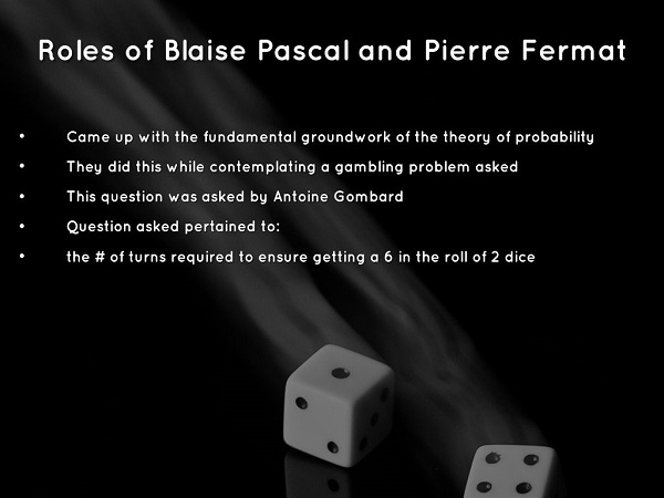 Roles of Blaise Pascal and Pierre Fermat