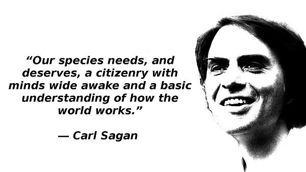 I miss Carl Sagan.
