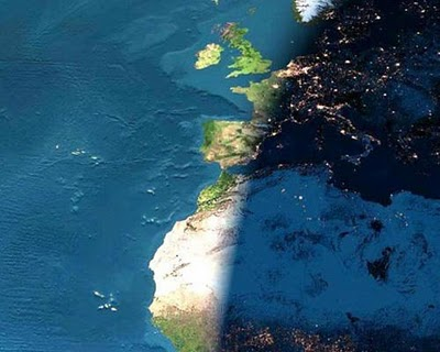 daylight from space