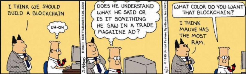 Dilbert: I want to build a blockchain.
