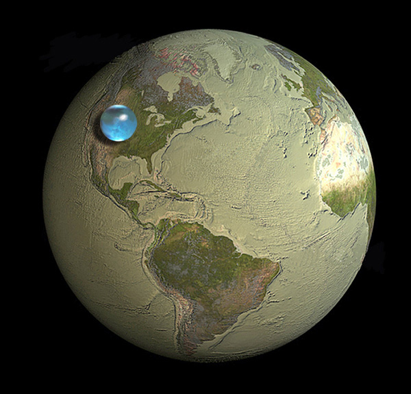 earth water volume visualized