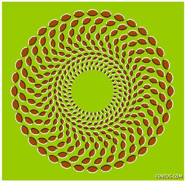 Expanding circles illusion