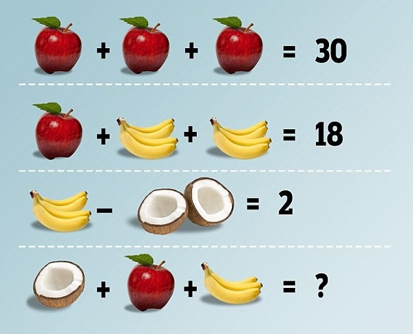 What's the answer to the fruit puzzle?