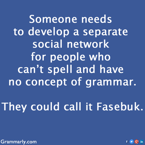 grammarly fasebuk