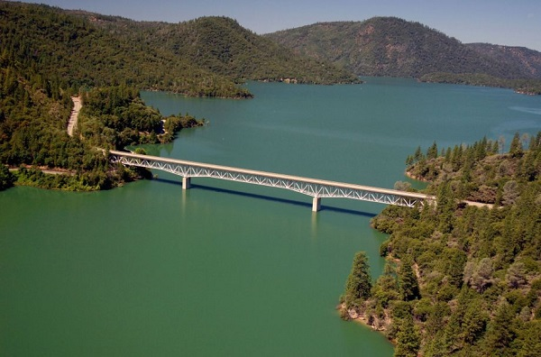 lake oroville reservoir california before drought