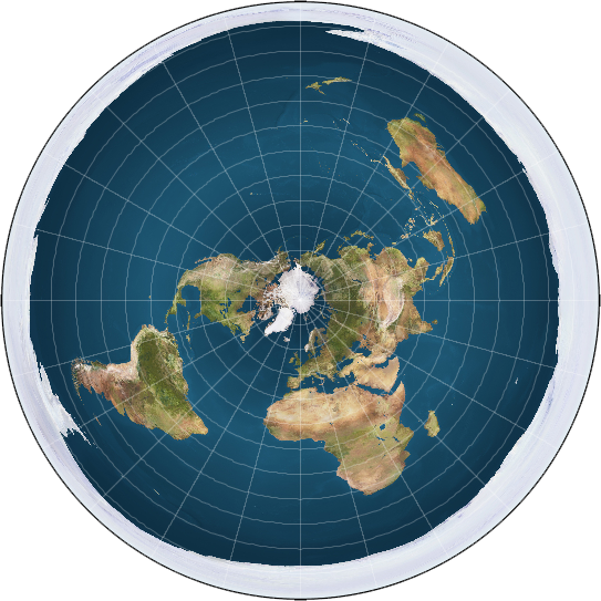 modern flat earth map