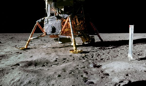 moon hoax objects left behind