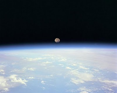 moonrise viewed from space