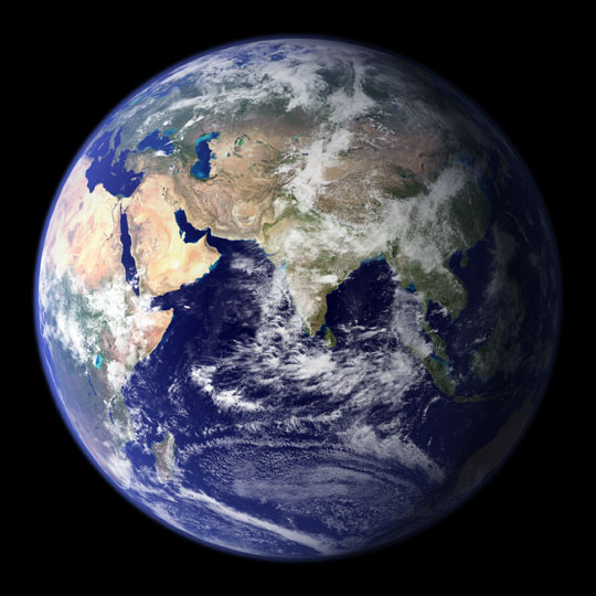 nasa, view of earth from space, blue marble