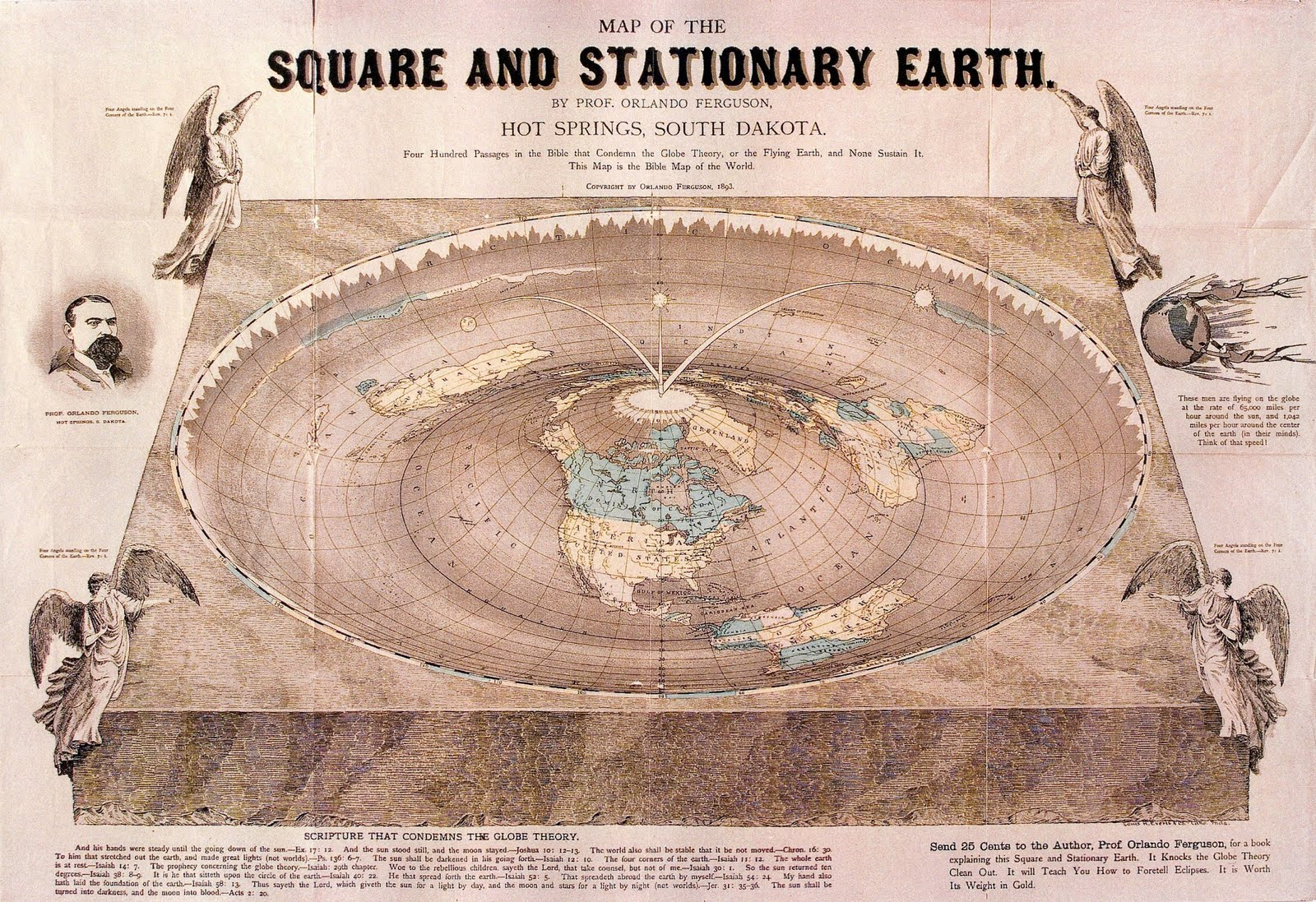 orlando ferguson, flat earth map