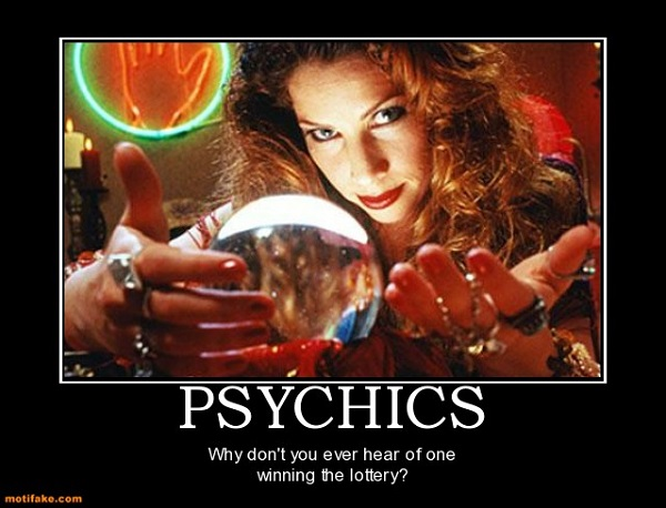 Why aren't psychics constantly winning the lottery?