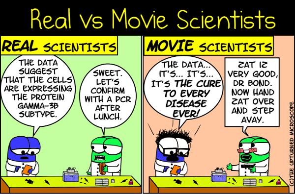 real vs movie scientists 5