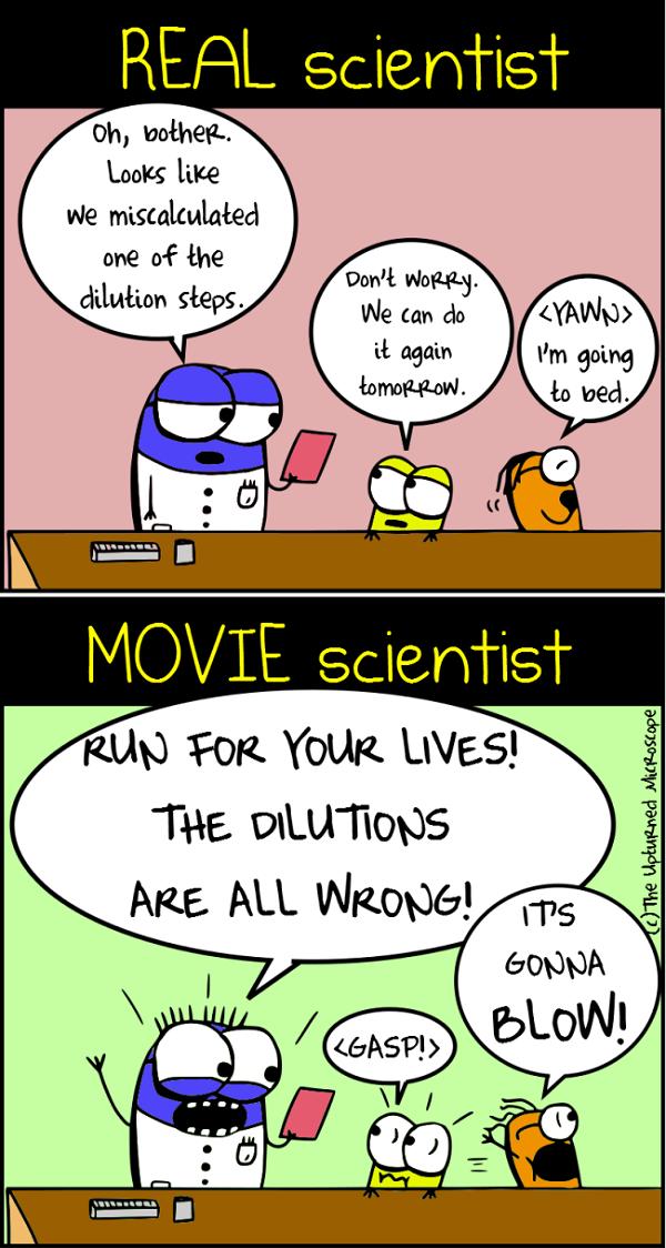 real vs movie scientists 6