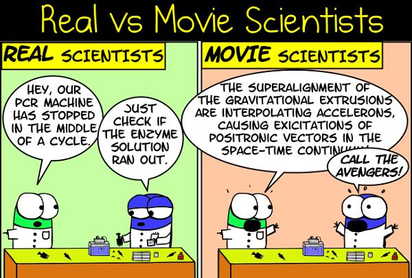 Movie Scientists vs. Real Life Boffs