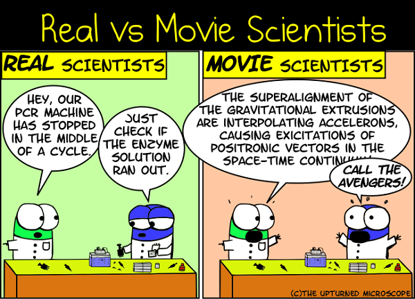 real vs movie scientists 8