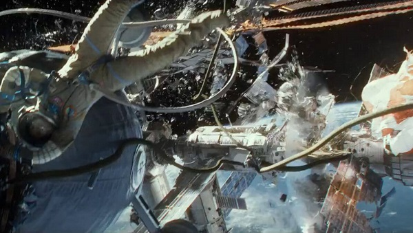 "Scene from the movie ""Gravity"""