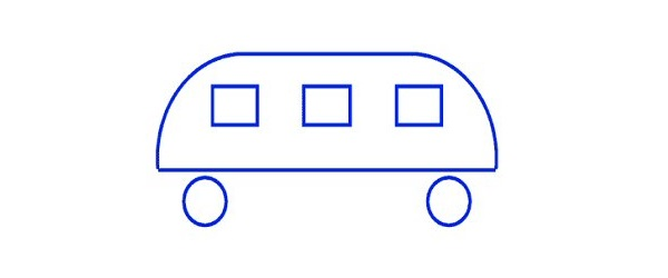 Which way is the bus driving?