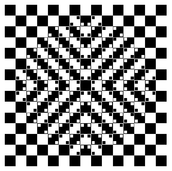 squares and bulge illusion