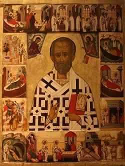 Russian icon depicting St Nicholas