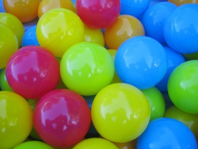 Colourful plastic balls - background