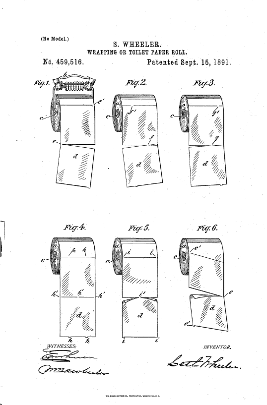 toilet paper patent600
