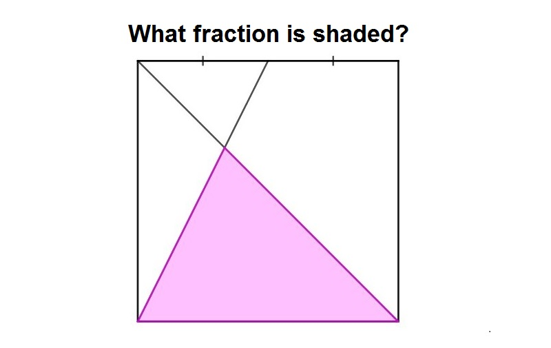 What fraction of this shape is shaded in pink? A puzzle!