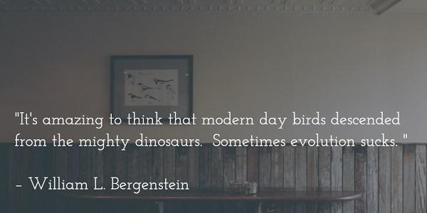 william l bergenstein - bird evolution quote