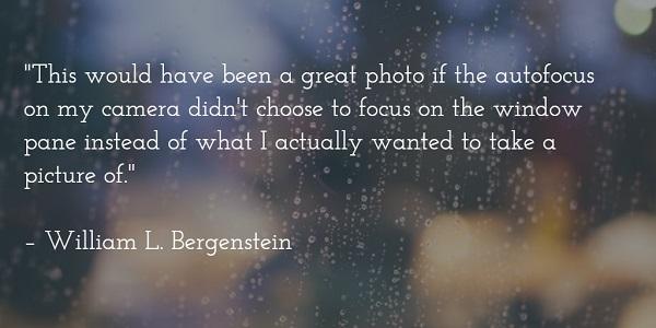 william l bergenstein - blurry window quote