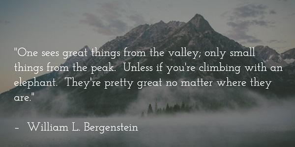 william l bergenstein - climbing mountains quote