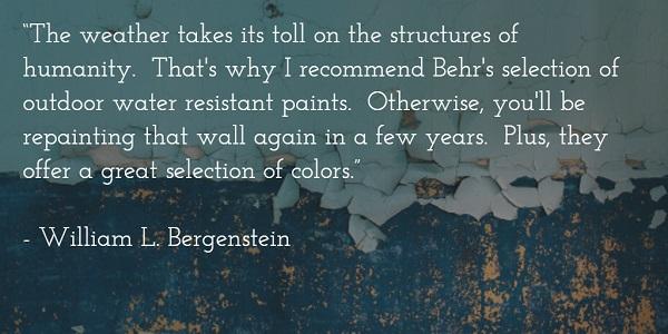 william l bergenstein - peeling paint quote