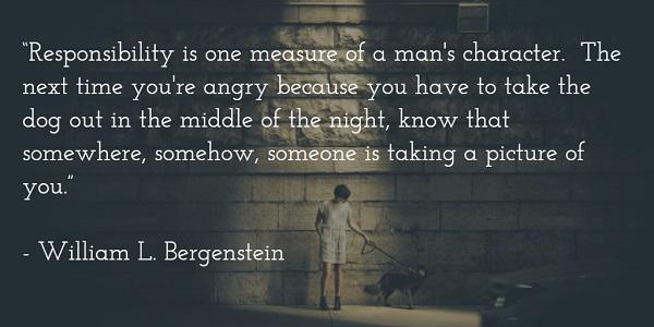 william l bergenstein - responsibility quote