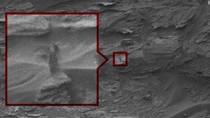 Did curiosity snap a photo of a woman on Mars?