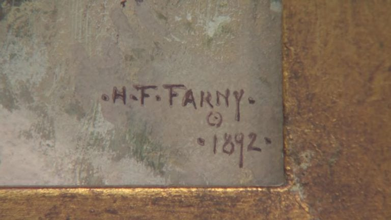 H.F.Farny grandma painting