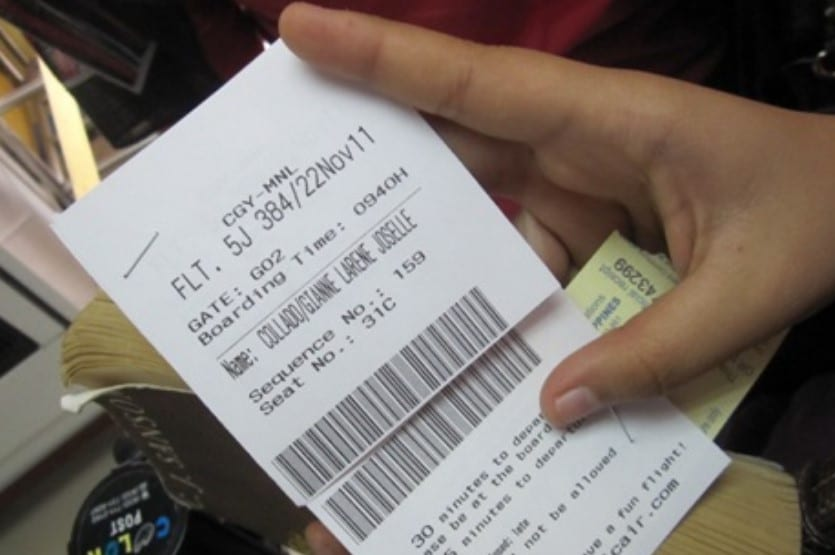 boarding pass for flight
