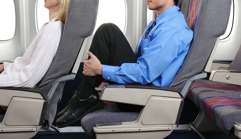 economy seats during flight