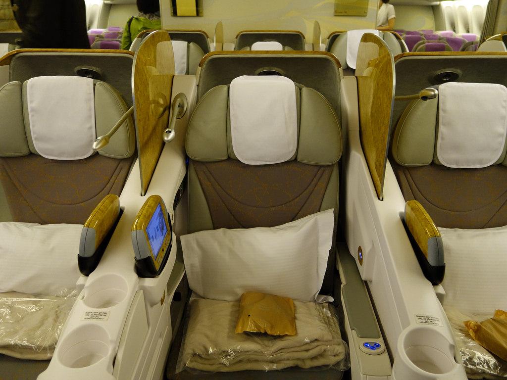 first class seats on flight