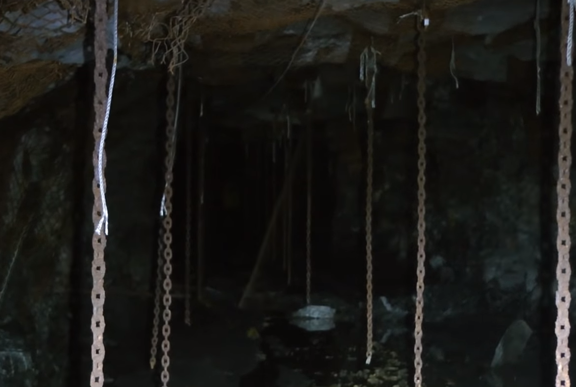 An eerie sight in the gold mine