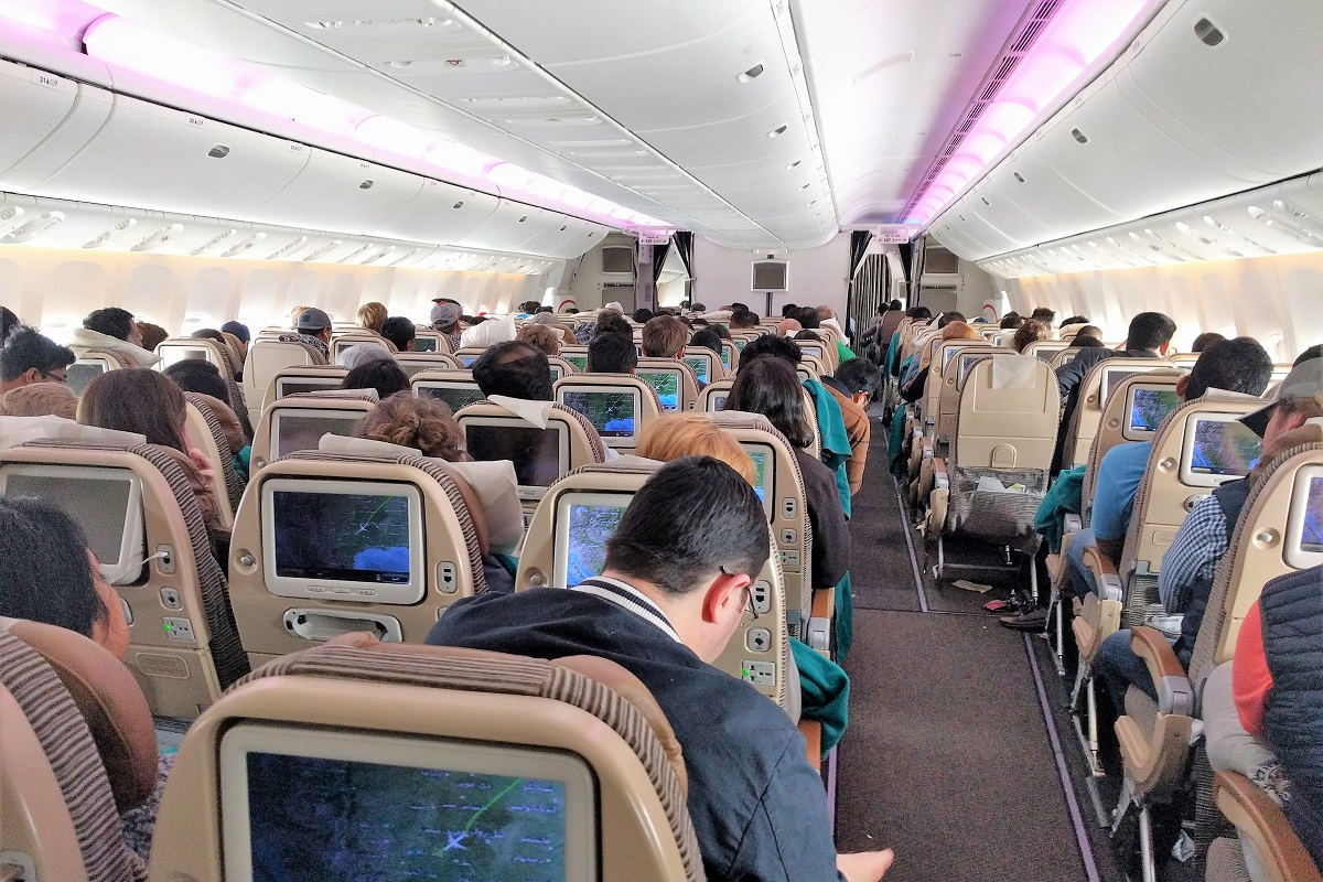 a fully-booked flight