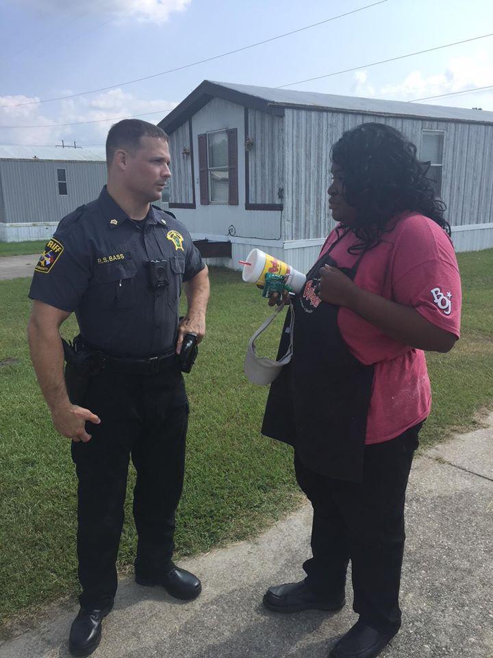Sgt. Bass drives Jaylesya Corbett to work